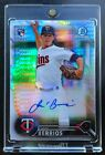 JOSE BERRIOS 2016 BOWMAN CHROME NATIONAL CONVENTION REFRACTOR AUTOGRAPH RC 30