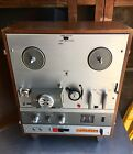 AKAI X 1800SD REEL TO REEL TAPE PLAYER w 8 TRACK PLAYER WORKING