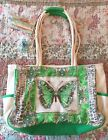 NWT Kate McRostie Sequined Butterfly Tote