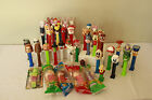 Pez dispensers lot of 47 !!!! 5 of them  still sealed, with candy!! SOME RARE
