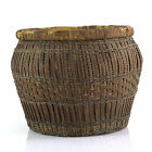 NORTHEAST NATIVE AMERICAN INDIAN BASKET Woven Splint Dyed New England Woodlands