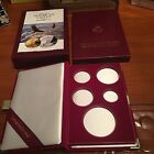 1995 W Gold Silver Eagle 10th Anniv5Coin Proof BOX with OGPCOIN CAPSULES