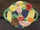 Fitz and Floyd Calypso Fruit Platter with handles