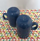 Fiestaware Lapis Rangetop Salt and Pepper Shakers Fiesta Blue Range Top