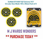 DeWalt DT10397-QZ Extreme TCT Circular Saw Blade 165 x 20mm Pack of 3