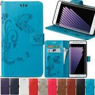 Card Holder Leather Flip Wallet Case Cover Stand Floral Skin For Various Phone