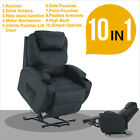 Black Leather Massage Recliner Armchair Power Lift Chair Wall Hugger Lounge Seat