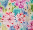 Ariel BTY Studio 8 Quilting Treasures Pink Aqua Blue Purple Watercolor Floral