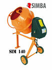 Electric Cement Mixer 140L Litre 230V Volt 550W Portable Concrete Mortar Plaster
