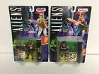 TWO 1992 Kenner ALIENS Space Marine action figures RIPLEY + BISHOP ANDROID