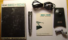Vintage Teac MC-105 Desktop Microphone w/ Stand and Cable In Box with docs