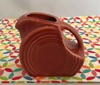 Fiestaware Paprika Mini Disc Pitcher Fiesta Retired Burnt Orange Creamer NWT