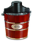 Aroma Housewares 4 Quart Traditional Ice Cream Maker Fir Wood