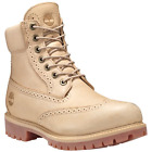 TIMBERLAND A1GBS MENS 6 PREMIUM SAND BROGUE WATERPROOF INSULATED BOOTS250