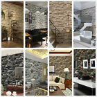 Natural 3D Brick Stone Wallpaper Roll 33Ft 10M Textured Art Wall Paper Decor