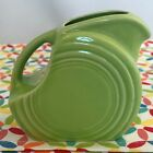 Fiestaware Chartreuse Mini Disc Pitcher - HLC Fiesta Retired Green Creamer