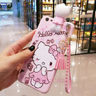 3D Cute Hello Kitty Strap Tassel Pendant Soft Case Cover for iPhone 8 6S 7 Plus