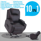 Brown Electric Power Lift Chair Recliner Armchair Elderly Leather Lounge Seat
