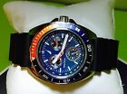 NEW NAUTICA SPORT RING,SILVER+BLUE+RED,ROYAL BLUE,BLACK RESIN BAND WATCH N07578G