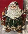 FITZ & FLOYD JOLLY OLE ST NICK Santa COOKE JAR LID Large 13