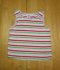 GYMBOREE WATERMELON PICNIC PINK  RED STRIPED TOP GIRLS 6 SUMMER