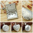 NEW 925 Sterling Silver Locket Heart Picture Photo Pendant Chain Necklace Gift