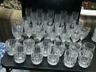 34 Mikasa Lead Crystal Park Lane Wine Old Fashion Champagne Beverage Glasses