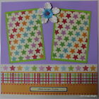 Premade12 x12 Scrapbook Page Layout Children Girl Together SEWN MSND Jenn