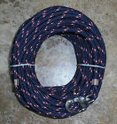 3 8 x 115 ft Dac Polyester Halyard Spliced in S S Snap Shackle Navy rdwhrd