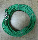 1 4 x 80 ft Dac Polyester Halyard Spliced in S S Snap Shackle Kelly Green