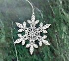OPELLE GIFTWARE BY CORNING SNOWFLAKE ORNAMENT Calcite Glass Delicate Christmas