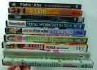 Lot of 10 Exercise and Fitness Videos on DVD Jillian Michaels Billy Blanks