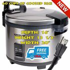 60 Cup Commercial Electric Rice Nonstick Steamer Cooker Warmer Restaurant-120V
