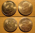 Lot of 2 Eisenhower Dollar coins Years:  1972 & 1976