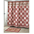 Avanti Hearts And Stars Patchwork Fabric Shower Curtain Red 72X72