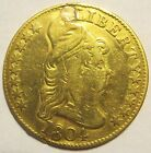 1804 Gold $5 coin - VF Details, Plugged, 8/8, Vintage Early Date Rare (132031E)