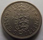 1961 GREAT BRITAIN ONE SHILLING! VERY HIGH GRADE! REEDED EDGE! NICE!