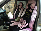 2017 New Cute 10 Pcs Hello Kitty Universal Polka Dot Car Seat Covers