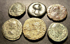 6 Ancient Imperial Roman Coins Lot, Horse, Altar, Temple, Nike, Deities, Emperor