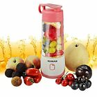 KUWAN Mini Centrifugal Juicers Rechargeable Electric Fruit Juicer Portable With