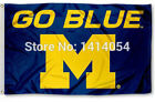 NCAA Michigan Wolverines Go Blue Banner Flag 3X5 FT