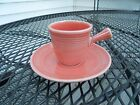 fiesta Homer Laughlin tangerine/orange stick handle demitasse cup