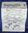 Vtg 1968 The Lindberg Line Mini-Lindy Greyhound Bus #12 *instruction sheet only*