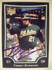 TOMMY EVERIDGE signed A's 2009 Bowman Draft baseball card AUTO Autographed BDP15