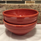 2 Fiesta Paprika  Small  5 inch   Footed  Bowls