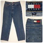 Vintage Tommy Jeans Mens Straight Leg 33x30 Large Flag Patch