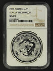 2000 Australia Silver $1 Year of the Dragon NGC MS-70 -162022