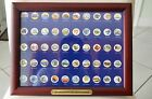 Complete State Quarter Set colorized Plated in Frame