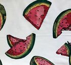 Giant Watermelon Slices On White Cotton Quilting Fabric Sewing Crafts