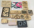Lot 14 Rubber Stamps Club Scrap Wood Mounted hero arts Limited Edition FREE SHIP